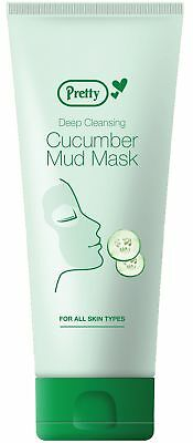Pretty Deep Cleansing Cucumber Mud Mask For All Skin Types 198ml