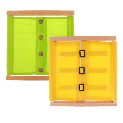 Wooden Montessori Small Buttons Dressing Frame Education Practical Materials