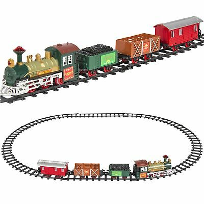 Kids Classic Battery Operated Railway Train Set Music Lights Christmas Tree Toy