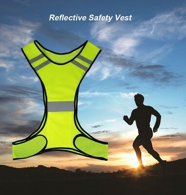 new flourescent high visibility reflective running  vest mens/women's,one size.