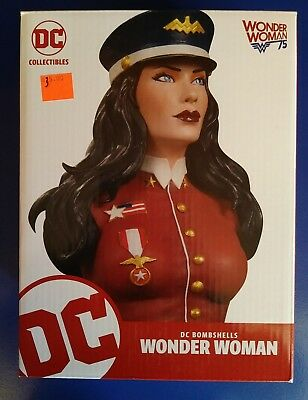 DC Bombshells Wonder Woman Bust - DC Collectibles Statue NEW & UNOPENED