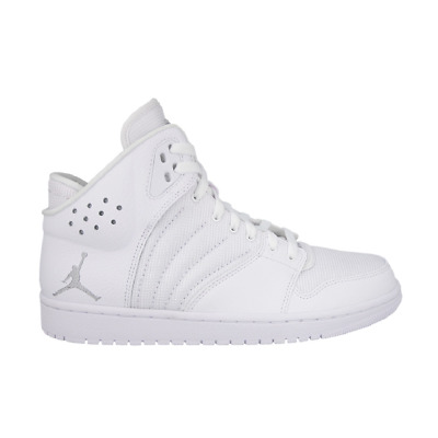 50df8120d9 Nike Air Jordan 1 Flight 4 All White Scarpe da Pallacanestro Basket 820135  100
