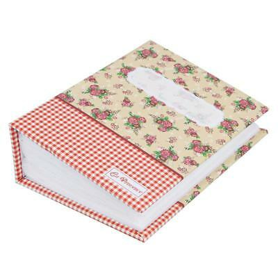 Photo Album Memory Pictures Storage Hold Case Wedding Gift Floral 100 Pockets