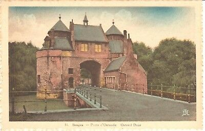 carte postale - Bruges - Porte d'Ostende - Ostend Door