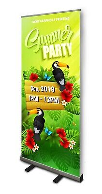 "6 PCS NEW Retractable Pull Up Banner Stand 33""  WITH PRINTING- PRICE REDUCED!!!"