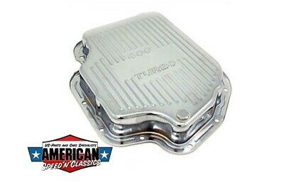 Ölwanne Chrom TH400 Getriebe Dichtung Transmission Oil Pan Chevrolet GM Hot Rod