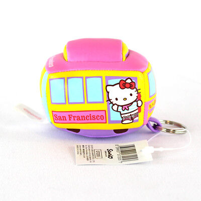 New Rare 2003 Sanrio Hello Kitty San Francisco Train Trolley Car Plush Keychain