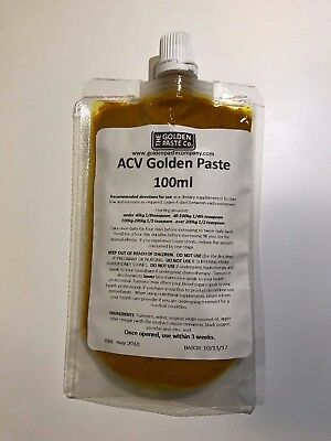 Golden Paste Curcumin with ACV Free P+P UK Turmeric CERTIFIED ORGANIC for Dogs