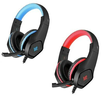 Gaming Headset Microphone PlayStation 4 PS4 LED Lights Xbox One PC Laptop Mobile