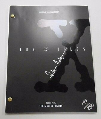 SIGNED The X-Files Season 7 Episode #03 SCRIPT! #199/250 LIMITED! with COA! RARE