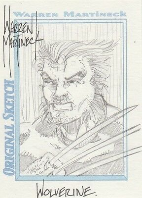 WOLVERINE  PSC sketch by Warren Martineck