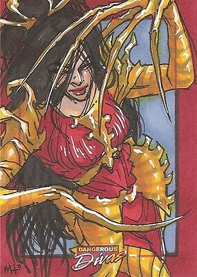Dangerous Divas LADY DEATHSTRIKE sketch by Meghan Hetrick