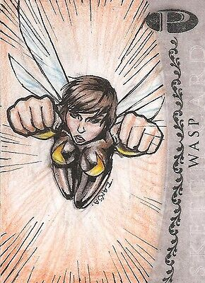 2012 Marvel Premier WASP sketch by Natasha Kourtis