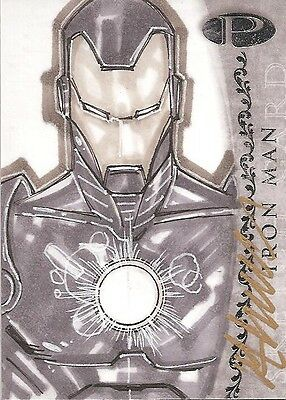 2012 Marvel Premier IRON MAN sketch by Matthew Clark