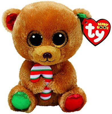 BELLA THE CHRISTMAS BEAR TY BEANIE BOOS  BRAND NEW 15cm BNWT