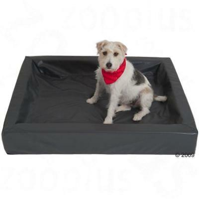 Large XL Hygienic Grey Dog Pet Comfortable Memory Foam Bed Relaxing Faux Leather
