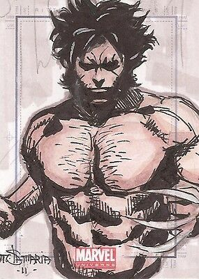 2014 Marvel Universe WOLVERINE sketch by Michael Sta. Maria