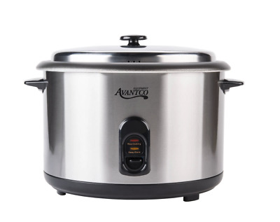 Avantco RC2316 46 Cup (23 Cup Raw) Electric Rice Cooker / Warmer - 120V