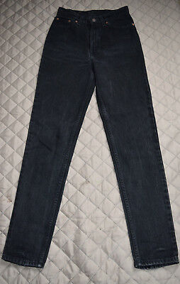 Ladies 512 Levis Jeans Slim Fit Tapered Leg 7 Long Black Made in U.S.A.