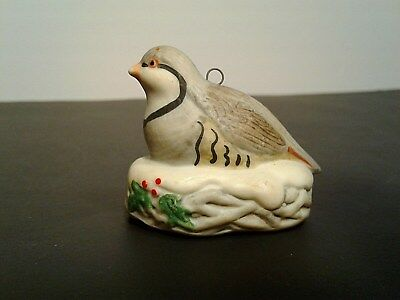Homco Christmas ORNAMENT Bird on nest  #5559 Excellent condition