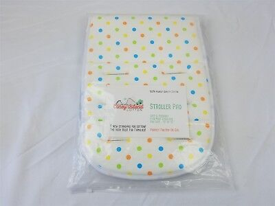 Coney Island Cotton Stroller Pad Universal Size, Breathable Support Unisex