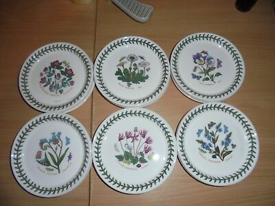 BNWT  Portmeirion Botanic Garden  6 bread and butter plates