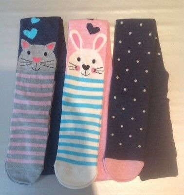 Animal Face Tights by Mothercare. 0 - 6 months BRAND NEW. CAT RABBIT