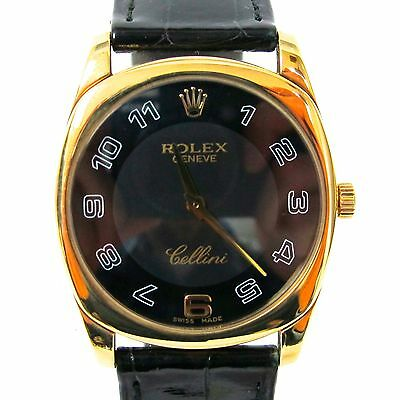 Rolex Cellini Solid 18K Yellow Gold Ref 4233 Watch Sapphire