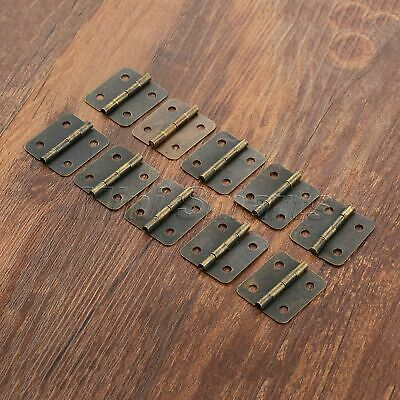 Small Vintage Metal Hinges Jewelry Box Dollhouse Cabinet Door Hinges 30*25mm 10x