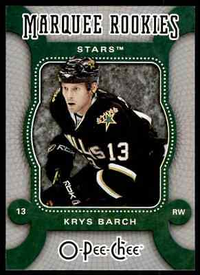 2007-08 O-Pee-Chee marquee Rookies Krys Barch Rookie #537