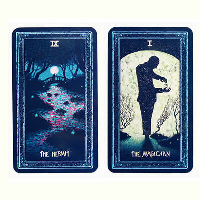 Silver Side Tarot deck Cards English version board game divination mystic