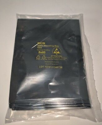 "100 4""x6"" ESD Anti-Static Discharge Shielding Bags Open-Top Lead-Free Computer"