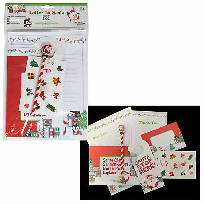 tinsel town christmas letter to santa thank you letter pencil stickers pack