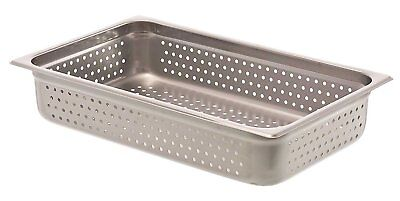 """Browne 8004P 4"""" Full-Size Perforated Steam Table Pan"""