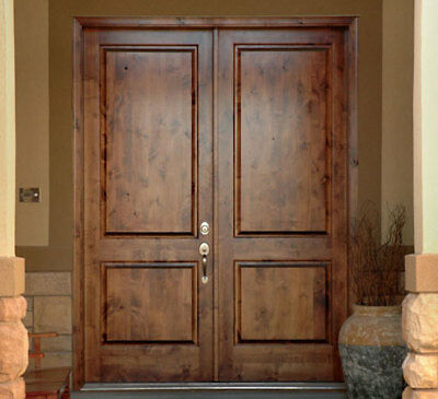 6/0-8/0 Rustic Knotty Alder Square or Arch Top Entry Doors - FAST SHIPPING
