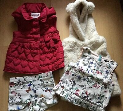 3-4 years Girls Shorts Suit & Hooded Body Warmers - Fur and Quilted