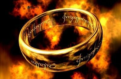 Lord of the Rings Men Women Ring Stainless Steel Gold Jewelry One Ring of Power