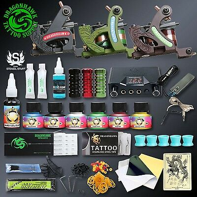 Professional Tattoo Kits Complete Set Machine Gun Lining And Shading Tattoo Inks