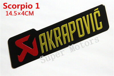 Akrapovic Aluminum Sticker Motorcycle Exhaust Pipe 3D Metal Decal Heat Resistant