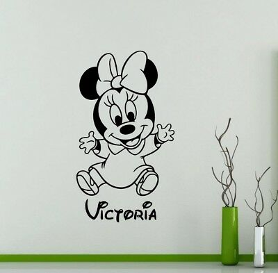 Kids Minnie Mouse Wall Sticker Cartoon Home Decoration Personalized Design New