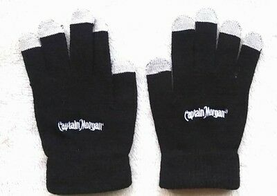 Captain Morgan Black and Grey Gloves Brand New!