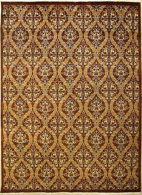 Rugstc 8x10 Senneh Chobi Ziegler Brown Area Rug,Natural dye, Hand-Knotted,Wool