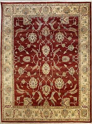 Rugstc 8x10 Senneh Chobi Ziegler Red Area Rug,Natural dye, Hand-Knotted,Wool