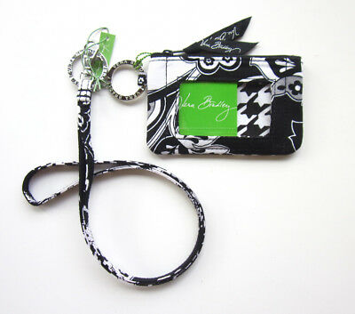 *New with tags*Vera Bradley Zip ID Case and Lanyard in Midnight Paisley