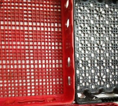 Choice Vintage Red or black Plastic Coca-Cola Coke Stacking Carrier Case Crate