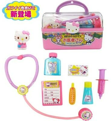 Hello Kitty Toy Dr. Case with Many Medical Supplies from Japan