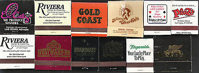 12 Different Vintage Las Vegas Casino Match Books /Covers - Downtown & The Strip