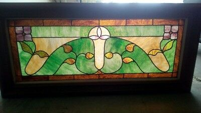 1925 antique stained glass window
