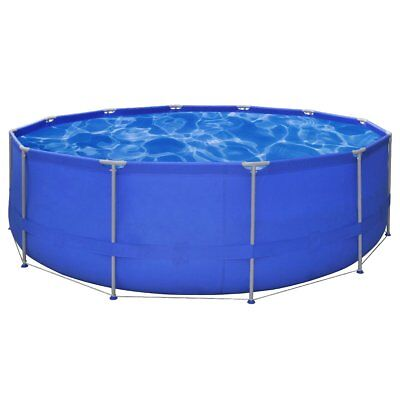 15ft Above Ground Round Swimming Pool Steel Frame Outdoor Folding Spa Heavy Duty