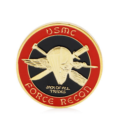 Gold Plated U.S. Marine Corps Core Challenge Commemorative Coin Collectible Gift